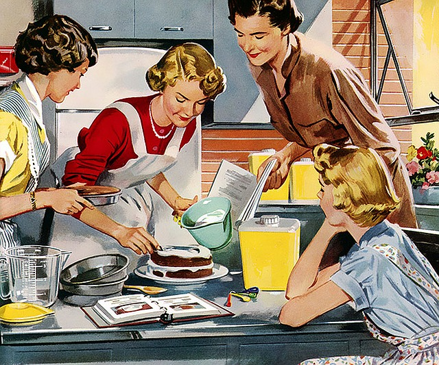 Bild Kochen am Tisch