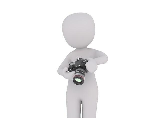 Bild Figur mit Kamera, kein Bild vorhanden